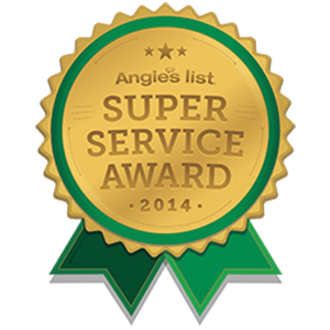 Angie's List 2014 Super Service Award!