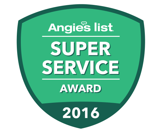 Angie's List 2016 Super Service Award!